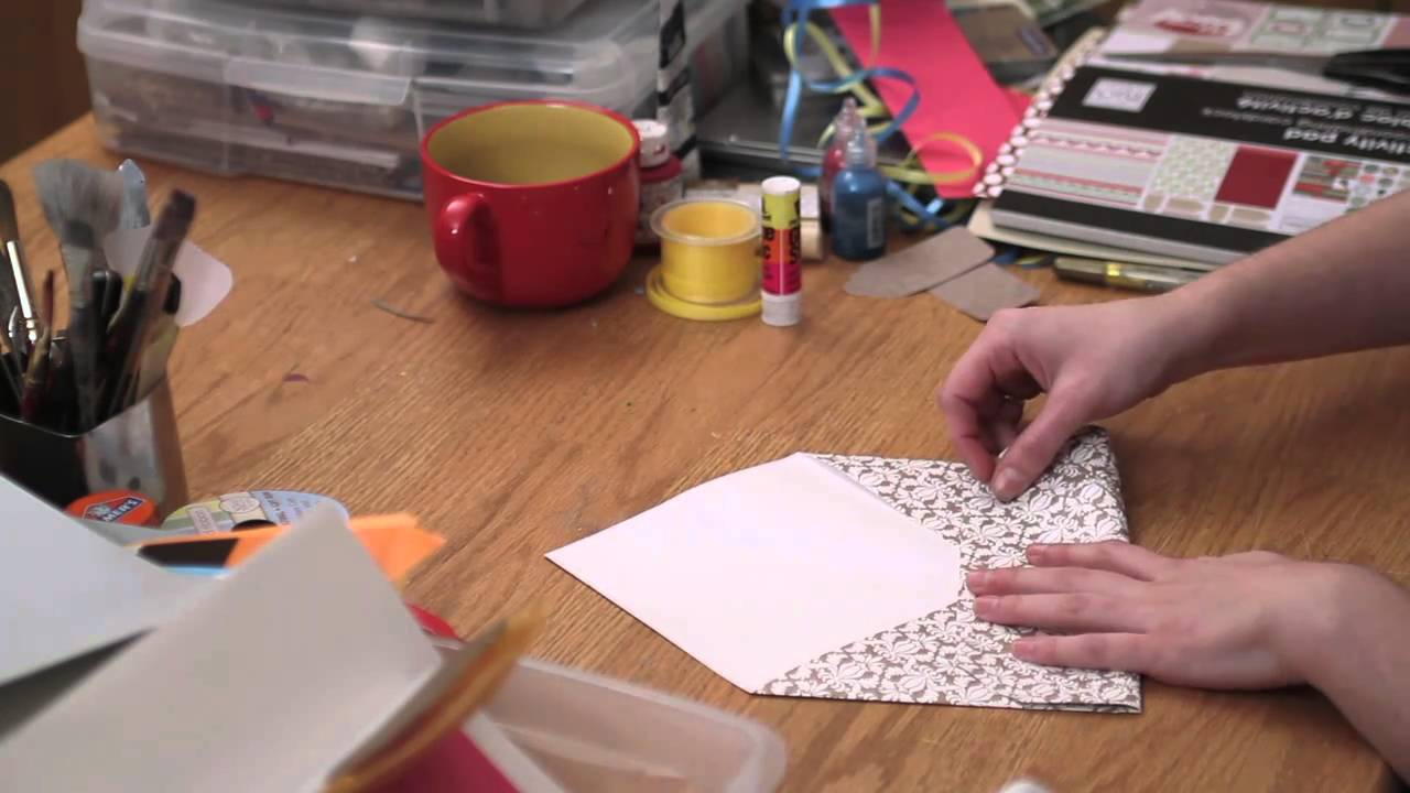 How To Stuff Wedding Invitations Without Inner Envelope: DIY Event Invitations : Patterns For Making Envelopes