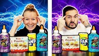 TWIN TELEPATHY Slime Or Food CHALLENGE! Sind Kathi & Kaan ZWILLINGE, wenn es um Slime & Essen geht?