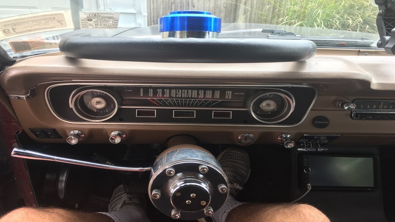 how to remove instrument cluster/gauges and wire radio 1965 mustang