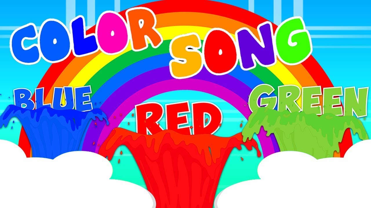 цвет песня | русские названия цветов | русский для детей | Colors Song For Kids | Kids Rhymes Russia