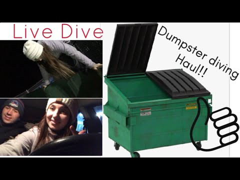 Taking you dumpster diving with me!🤗 (Live dive)