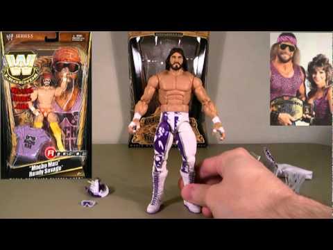 "/""MACHO MAN/"" RANDY SAVAGE Wrestling action figure Mattel WWE DEFINING MOMENTS"