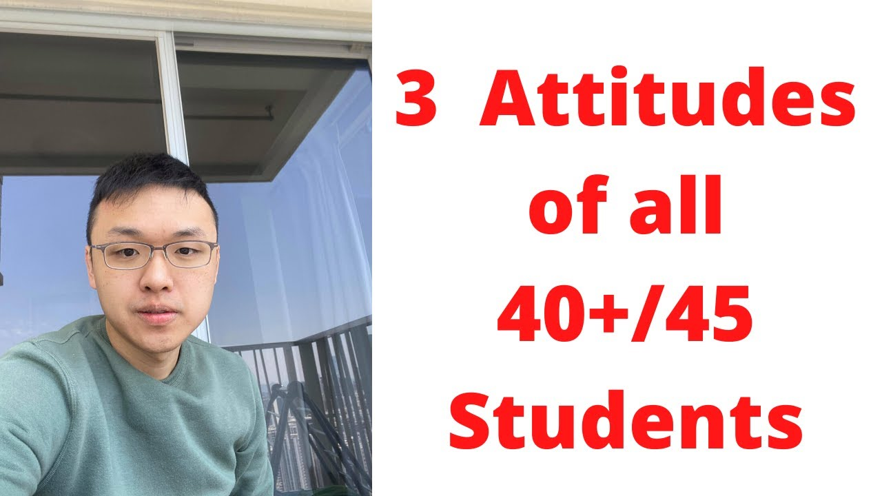 3 Attitudes of all 40+/45 IB students