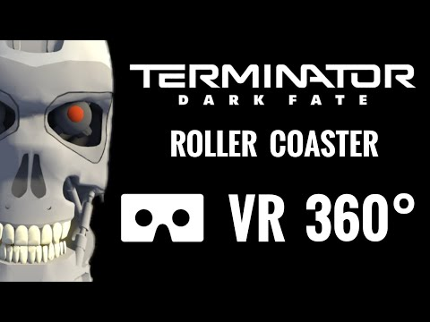 360° Terminator Dark Fate 360 VR video Roller Coaster Virtual Reality