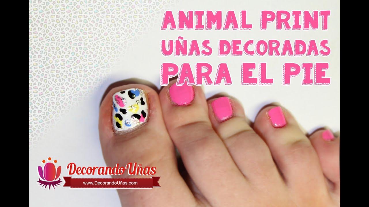 Uñas Animal Print Para El Pie Youtube