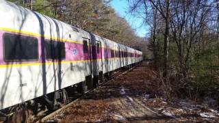 MBTA equipment on the Grafton & Upton Railroad