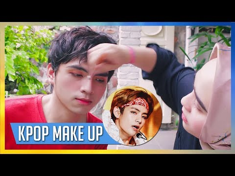 Male KPOP IDOL MAKEUP Challenge