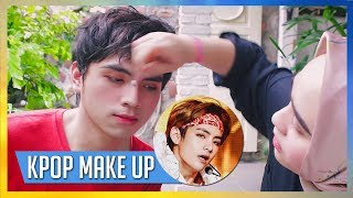 Video Male KPOP IDOL MAKEUP Challenge download MP3, 3GP, MP4, WEBM, AVI, FLV Agustus 2018