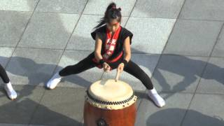 Sensational Young Taiko drummers - Powerful, brilliant. Nagasaki, Japan. Part 1.