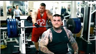 Popek Vs Burneika Wyciskanie leżąc 250kg 2017 Video