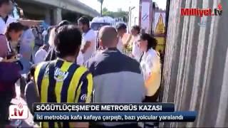 Son dakika... İstanbul'da metrobüs kazası: Yaralılar var