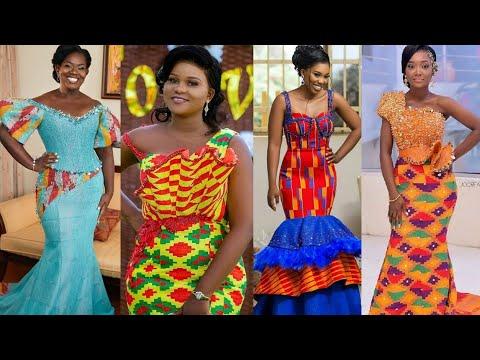 SUPER STYLISH GHANA WEDDING DRESSES #KENTE TRENDING STYLES #AFRICAN FASHION