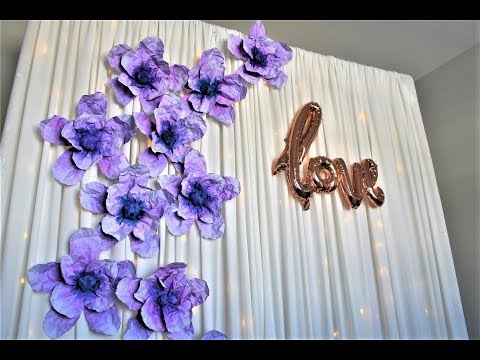 Paper Flower Backdrop DIY | How To