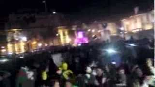 Algerian fans celebrating at Trafalgar square and old kent road ( world cup 2014 qualification )