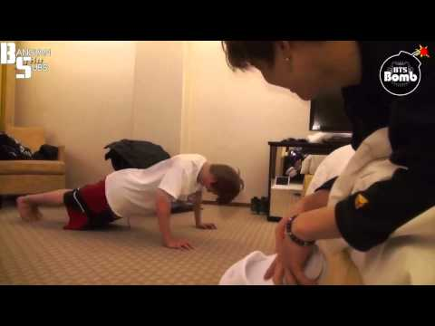 [ENG] 150127 [BANGTAN BOMB] Jin and Jimin's Push-up time 2