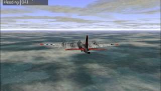 B-17 Flying Fortress -- The Mighty 8th Bombing Run & Return