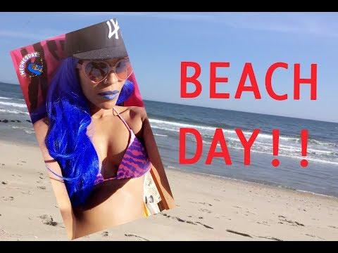 Beach Day!!!!! NYC! Vlog IRL