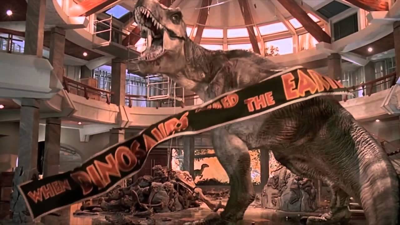 Jurassic Park T-Rex Final Roar - YouTube