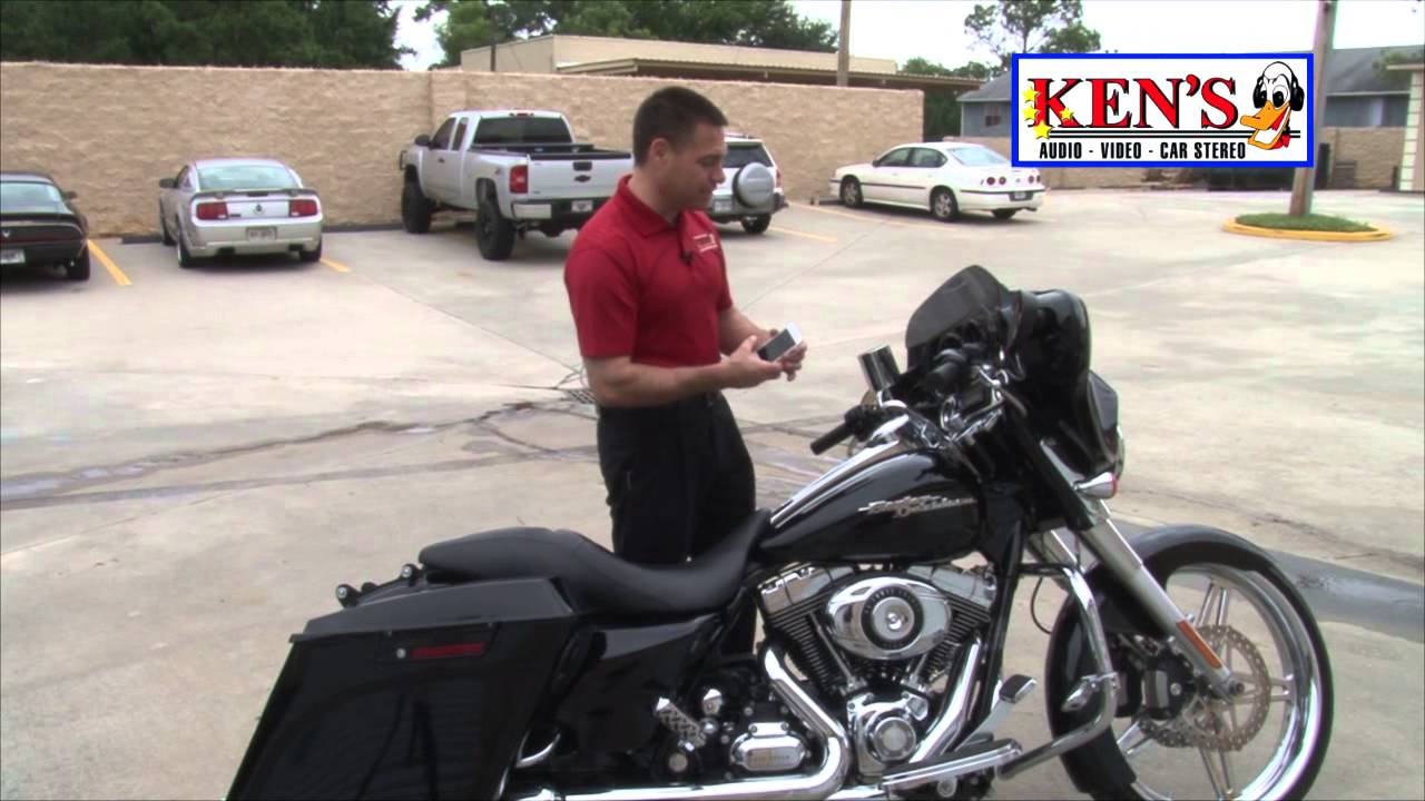 kens audio video - harley davidson with bluetooth - youtube