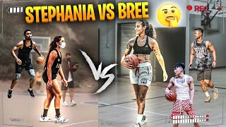 BREE VS STEPHANIA!! HEATED GAME!! Who was queen of the court : Kenny, Cel, pro hoopers