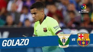 Download Video Golazo de Coutinho (0-1) CD Leganés vs FC Barcelona MP3 3GP MP4