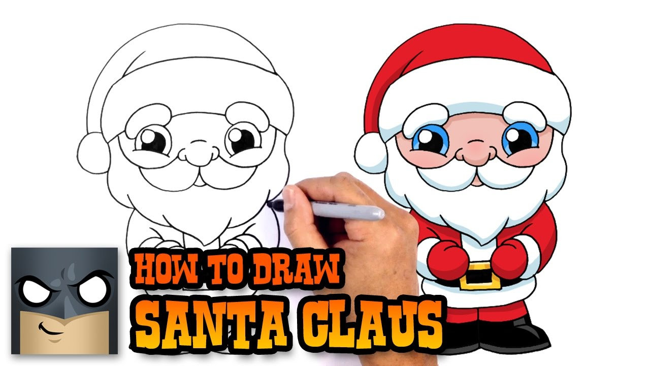 Uncategorized How Do You Draw Santa how to draw santa claus christmas drawing lesson youtube lesson