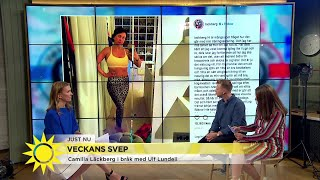 Camilla Läckberg i bråk med Ulf Lundell - Nyhetsmorgon (TV4)