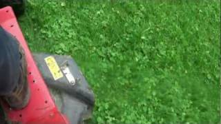 mowing with the MTD rider