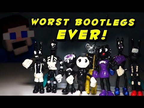 THE WORST Bendy and the Ink Machine BOOTLEGS IN THE WORLD! Chapter 5 Action  Figure Funko Fakes!