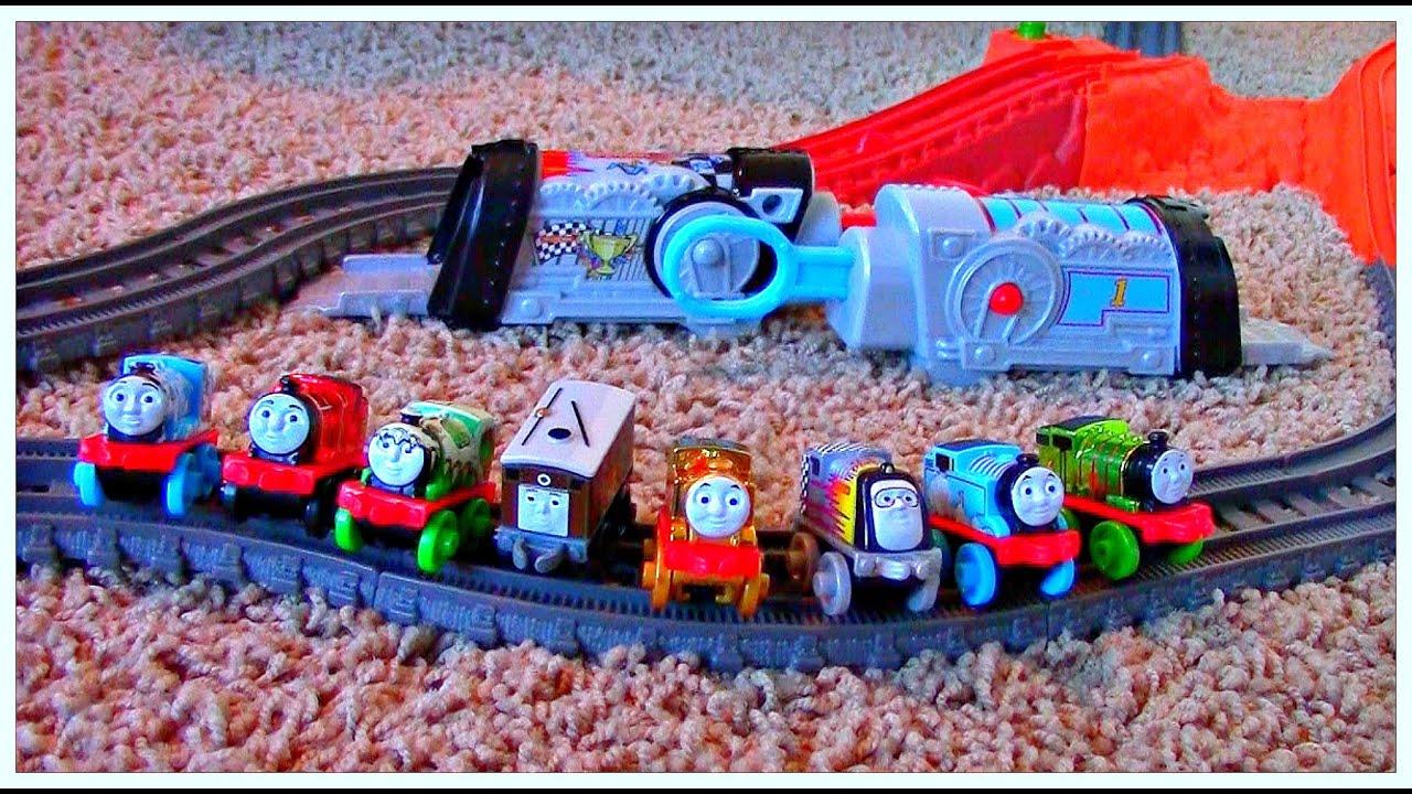 Thomas & Friends The Great Race Trackmaster Sky High Bridge Jump & Thomas Minis Experiment!