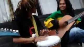 Legend Fatahillah Street Reggae Musician Performance.wmv
