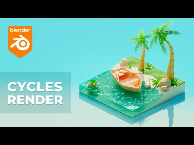 Тропическая сцена в Blender