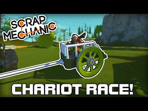 Epic Multiplayer Chariot Racing! (Scrap Mechanic #216)