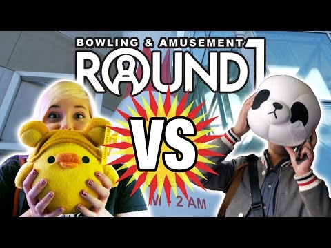 Who can win more prizes? UFO catcher versus battle at Round 1 arcade in  Moreno Valley!