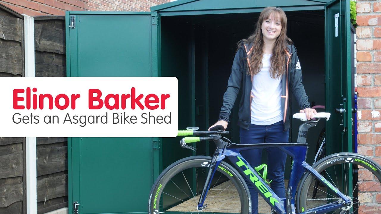 elinor barker gets her asgard bike shed youtube. Black Bedroom Furniture Sets. Home Design Ideas