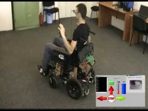 Used Electric Wheelchair >> Electric wheelchair controlled by eye movements - YouTube