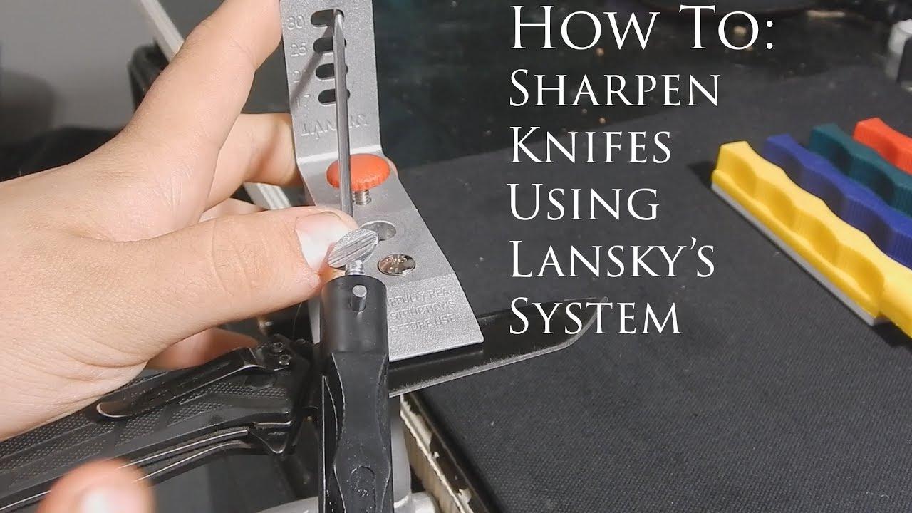 Lansky sharpener instructions.