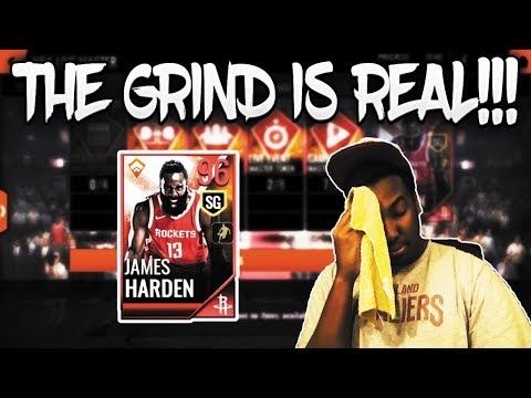 GRINDING FOR THE NEW 96 OVR MOBILE MASTER JAMES HARDEN ON NBA LIVE MOBILE 18!!!