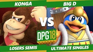 Smash Ultimate Tournament - Konga (Donkey Kong) Vs. CACAW! | Big D (Peach, Dedede) DPOTG18 SSBU LS