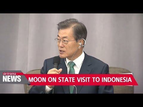Moon speaks to business leaders from Seoul, Jakarta... one-on-one with Joko Widodo later in the day