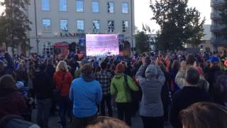 EURO 2016: France vs. Iceland - Public viewing in Akureyri, Iceland