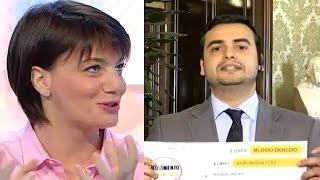 Lara Comi demolisce Carlo Sibilia che fugge dal collegamento - INTEGRALE