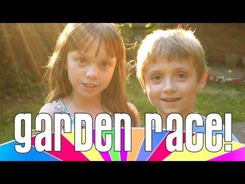 Ultra Dash - Kids Race Around The Garden - Who Will Win?