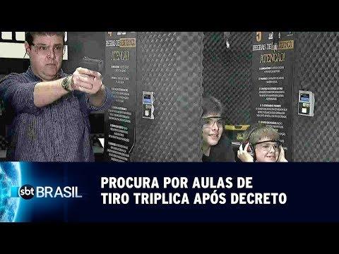 Procura Por Aulas De Tiro Triplica Em Clubes Após Decreto | SBT Brasil (09/05/19)