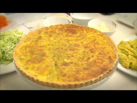 Faça Quiche vegetariano