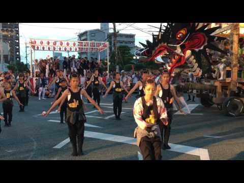 大牟田大蛇山集合 2017年7月23日  Dragon Festival