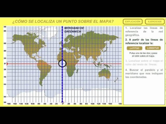 3 Cómo Se Localiza Un Punto Sobre El Mapa Youtube