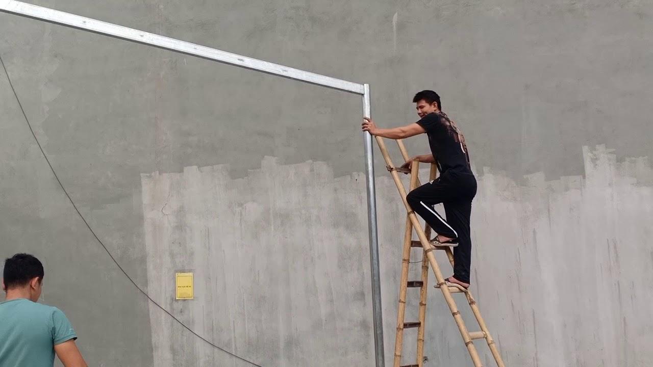 Làm theo bản vẽ nha mọi người, Cách làm mái tôn dài 7m không kèo kép có chịu được không 0986921336