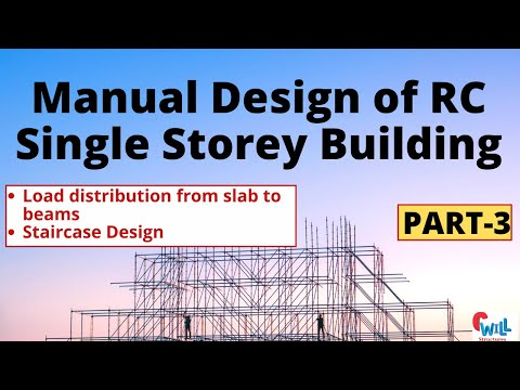 Manual Design of RC Building  Part-3   Load distribution from slab to beams  civil engineering