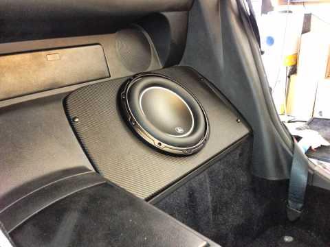 JL Audio 10w6v3 2004 Nissan 350z convertible - YouTube